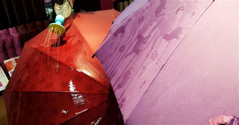 Japanese Umbrella Pattern When Wet | these japanese umbrellas reveal hidden patterns when wet