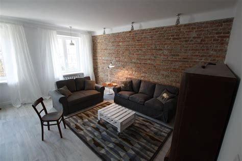 Sofa Chicago 2015 Eklektyczny Salon Z Ceglaną ścianą Architektura Wnętrza