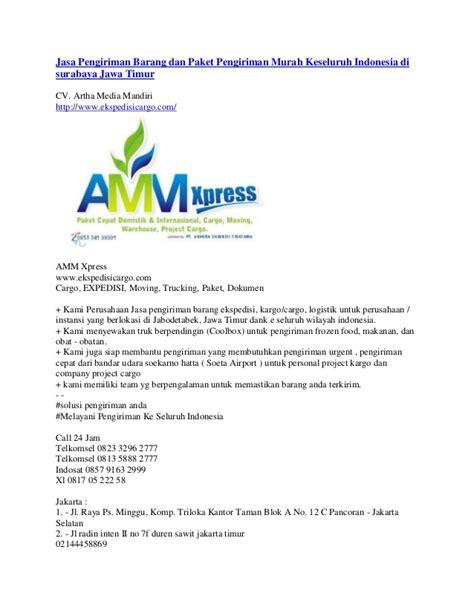 Paket Wifi Media Surabaya jasa pengiriman barang dan paket pengiriman murah keseluruh indonesia
