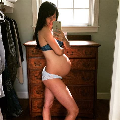 Lingerie Sweepstakes - pregnant hilaria baldwin shows off her baby bump in lingerie life style