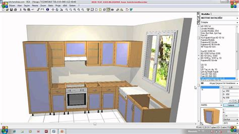kitchen cabinet drawing software kitchen draw eğitim youtube