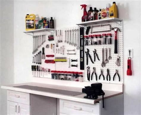 tool bench organization garage pegboard tool storage workbench organizer new ebay