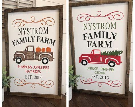 pumpkin patch sign christmas tree farm sign custom last