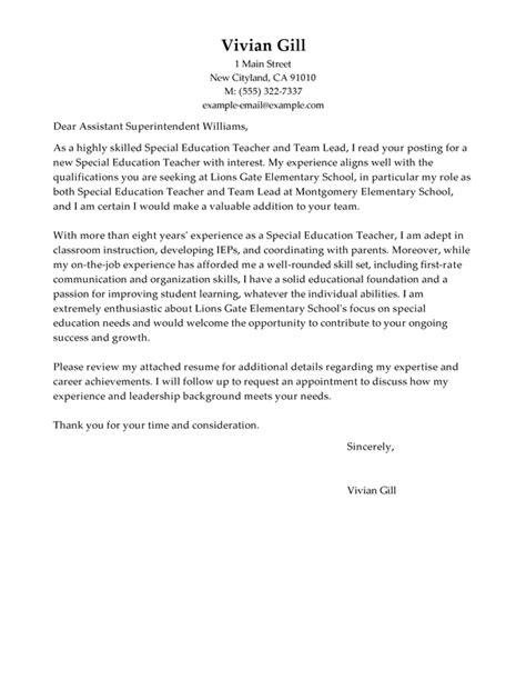 cover letter for team lead position best team lead cover letter exles livecareer