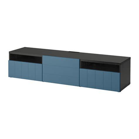 best 197 tv meubel zwartbruin hallstavik donkerblauw - Besta Hallstavik