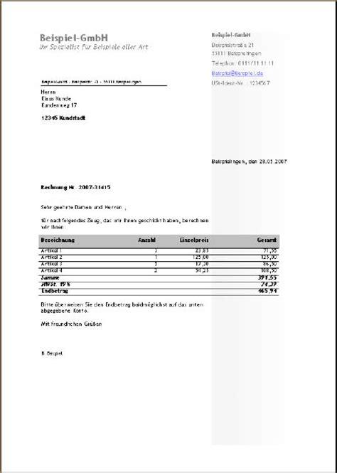 Word Vorlage Rechnung Rechnungen In Word Schreiben Access Im Unternehmen
