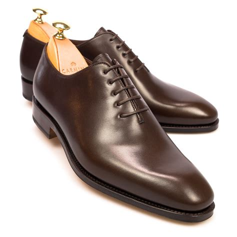 shoes oxford brown wholecut oxford shoes carmina