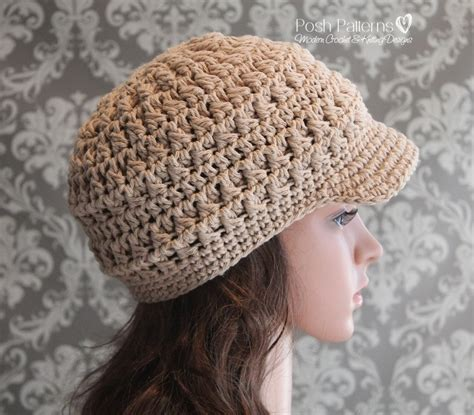 pattern crochet newsboy hat cluster crochet newsboy hat pattern visor hat
