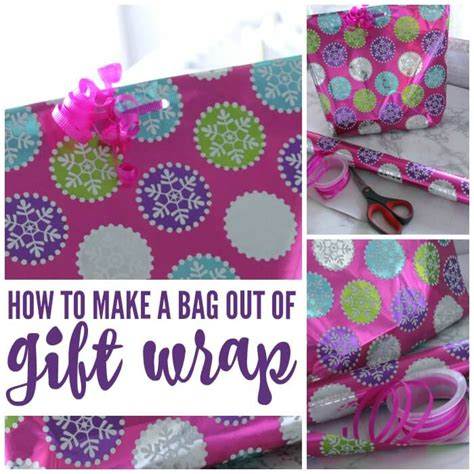 How To Make A Gift Bag Out Of A4 Paper - how to make a bag out of gift wrap for savings