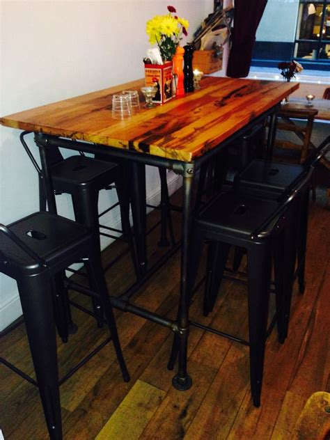 retro high top table and stools secondhand vintage and reclaimed designer furniture