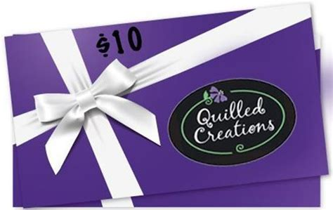 Jewel Gift Card Balance - 10 quilled creations gift card quilled creations
