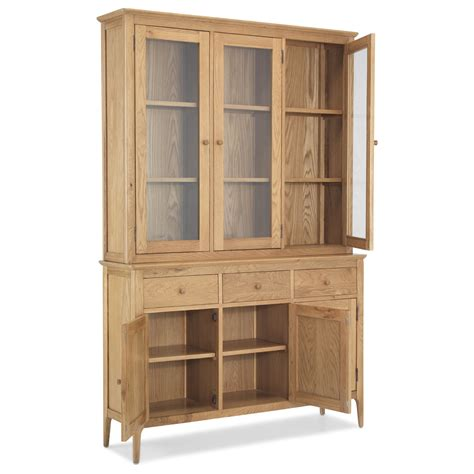 solid oak china cabinet ferndale solid oak furniture large cutlery china dresser