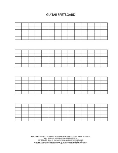 fret template blank guitar fingerboard chart pictures to pin on