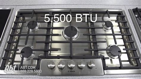 bosch cooktop bosch 800 series 36 gas cooktop ngm8655uc features