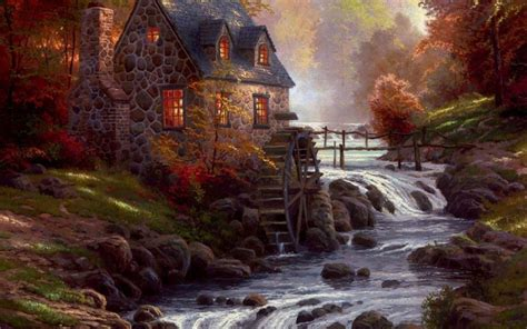 homeade lifesize thinas kinkade christmas tree kinkade autumn wallpaper desktop background desktop wallpapers cool awesome