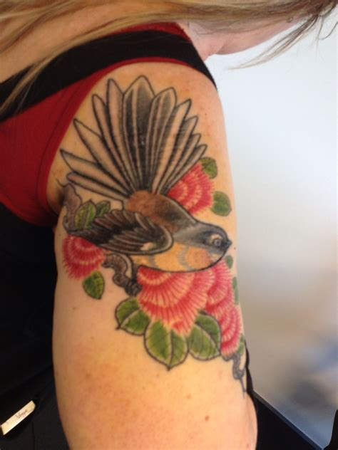 add on tattoos fantail on pohutakawa tree like the idea but would