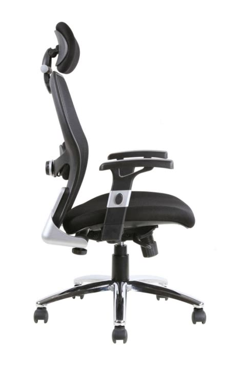 Office Chairs With Lumbar Support Sanderson Luxury Mesh Back Office Chair Inc Lumbar Support