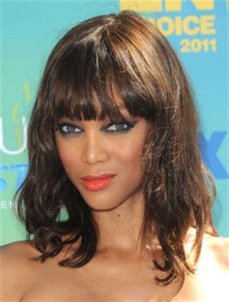 tyra banks with fringe bangs short hairstyle 2013 fringe bangs to be fall s hot hair trend beauty