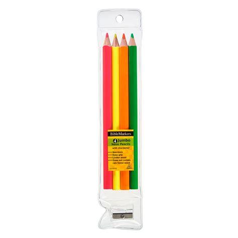 Set Of 4 Highlighter highlighter pencils set of 4 jumbo