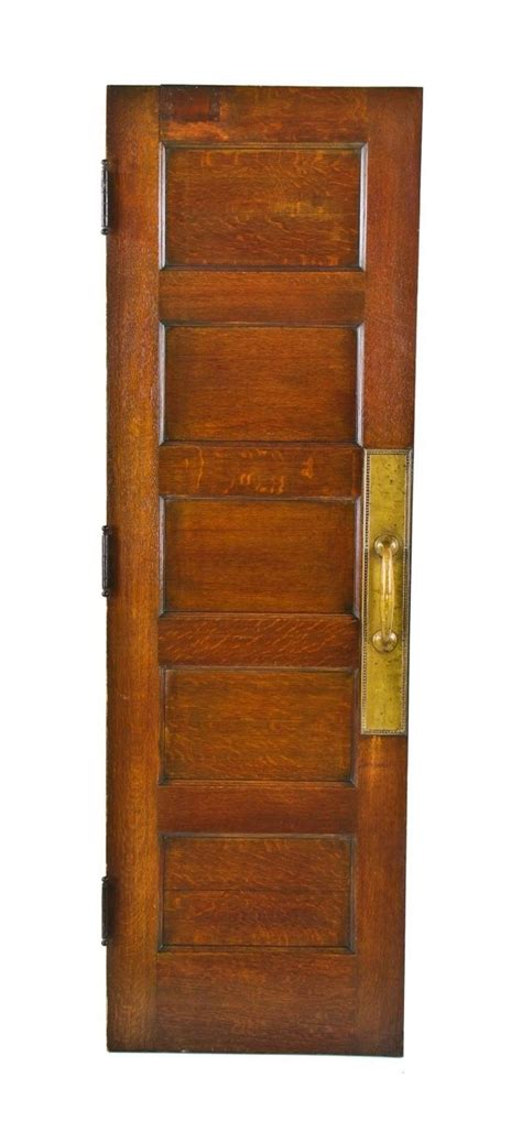 Original 19th Century American Interior Quartered Oak Wood Oak Wood Doors Interior