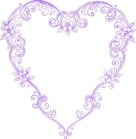 Decorative Hearts For The Home by Free Images Fancy Vintage Purple Heart Clip Art Image