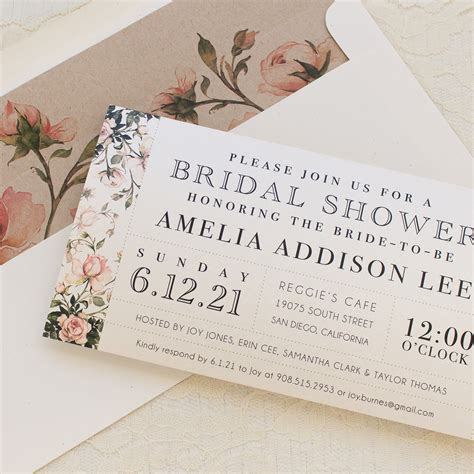 when should bridal shower invitations be mailed garden roses customizable bridal shower invites beacon