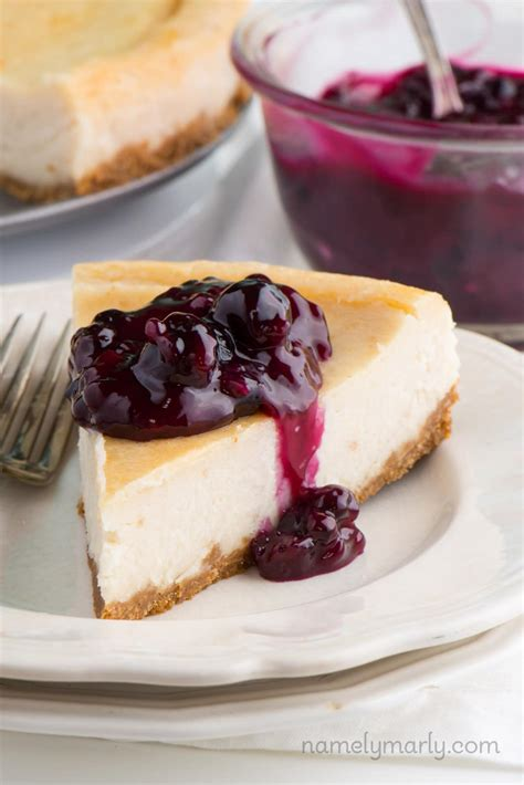 is ny style cheesecake refrigerated vegan new york style cheesecake with blueberry topping namely marly