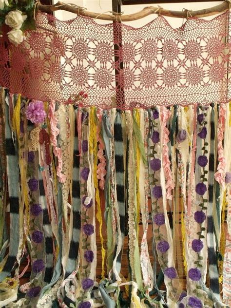 cortinas hippies 80wide x84long boho garland curtain gypsy hippie