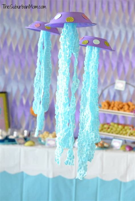 diy jellyfish party decoration craft tutorial thesuburbanmom