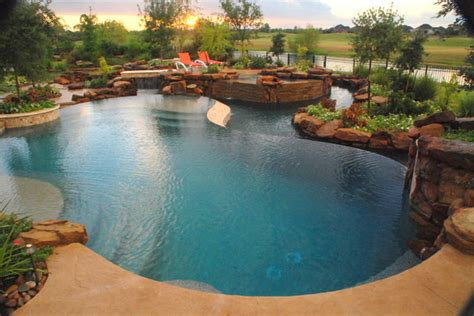 country style pools the lazy river hill country style eclectic pool
