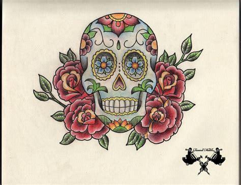 tattoo flash art skulls 33 best candy skull tattoo flash art images on pinterest