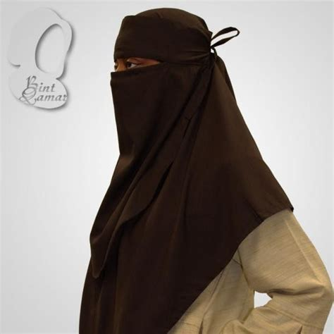 Indian Khimar chocolate brown khimar and niqab set places the o jays and niqab