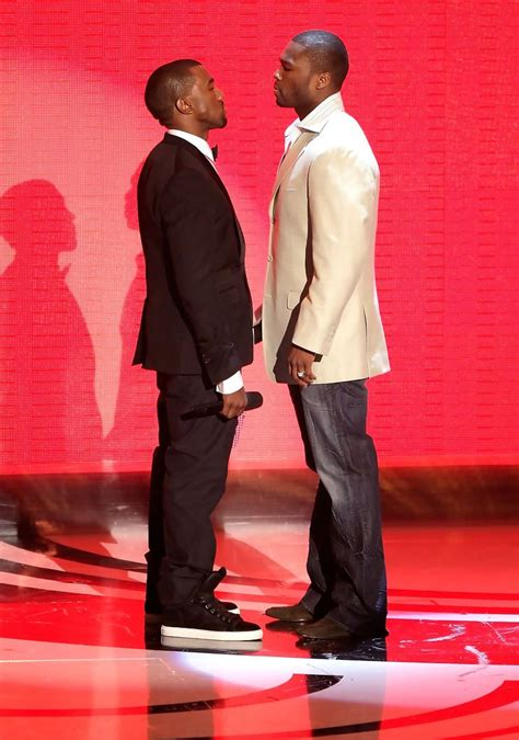 Majalah Rolling Nov 2007 50 Cent Vs Kanye West kanye west and 50 cent photos photos 2007 mtv awards show zimbio