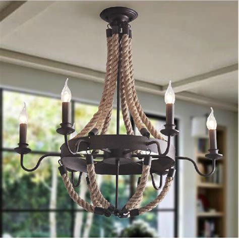 High Ceiling Light Fixtures Vintage Retro Edison Ceiling Light High Quality The Palatial Hemp Rope L Candle Lholder