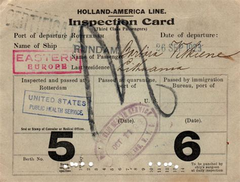 identification card ellis island template ellis island immigrant document collection gg archives