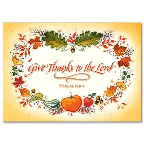 christian thanksgiving card template give thanks to the lord thanksgiving card