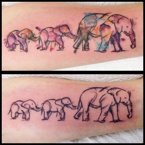watercolor tattoos glasgow sketchy watercolour elephants tattoos tattooart