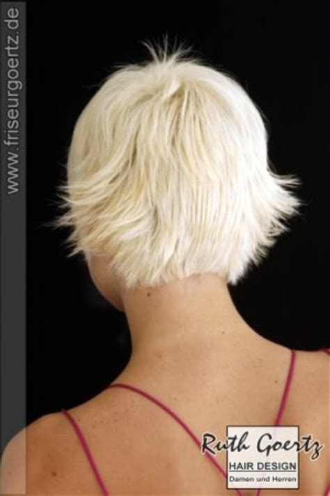 show pictures of the back of a short shag hairstyle choppy short haircut to take years off of your age