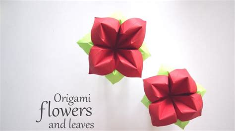 Origami Flower Leaves - diy kusudama flower all the way 21frames in