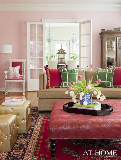 pink and green living room get the look glamorous pink gold and green color combo
