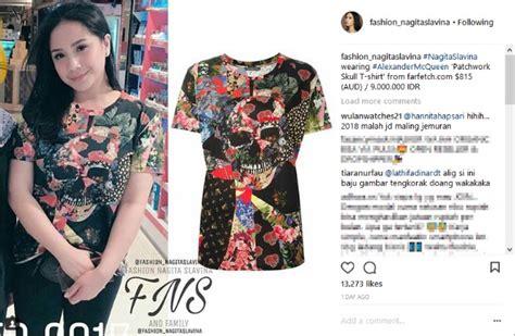Kaos Anti Sombong by Nagita Slavina Kenakan Seharga Rp 9 Juta Netizen Ingatkan
