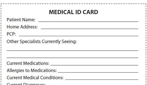 emergency id card template let s talk about ms be a take charge patient