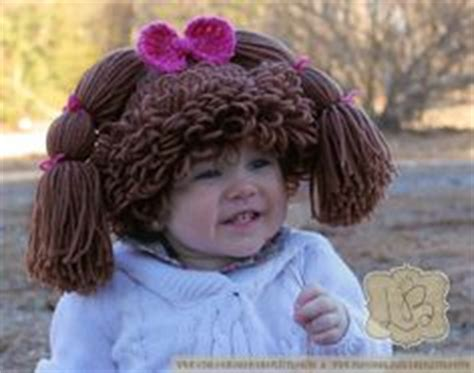 free crochet cabbage patch hair baby hat 1000 images about crochet wigs hats hair on pinterest