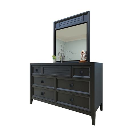 Dresser With Mirror by Dreamfurniture Broadway Dresser And Mirror Black