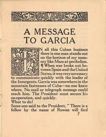 Message To Garcia Essay by A Message To Garcia Chris Gagn 233