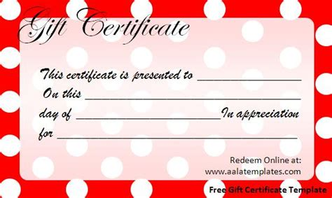 free gift cards templates birthday gift certificate templates new calendar
