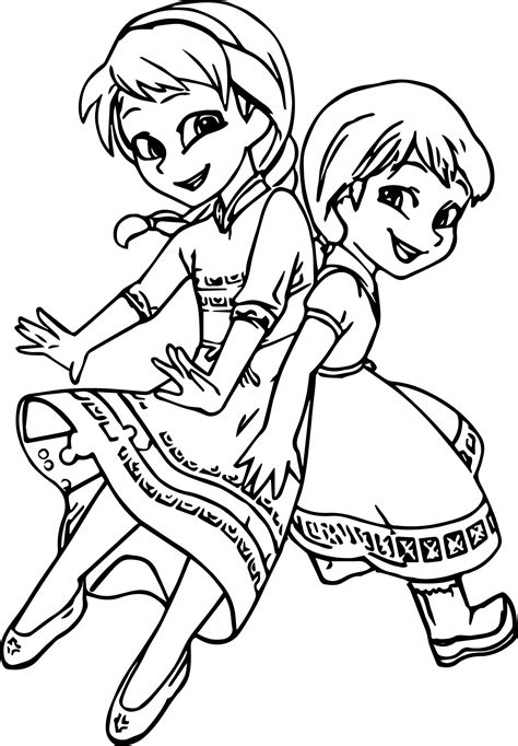 cute elsa coloring pages very cute girls anna elsa coloring page wecoloringpage