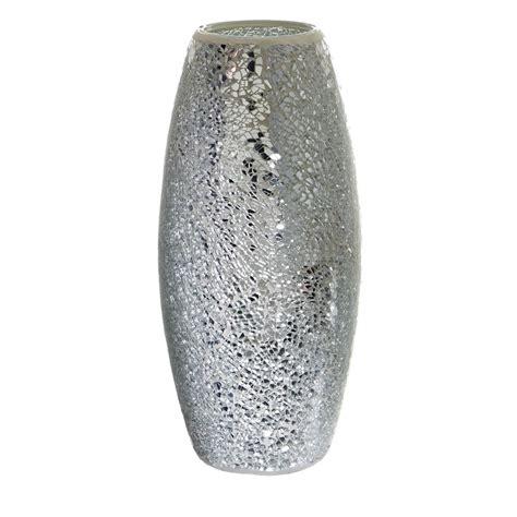 silver vase wilko silver mosaic vase at wilko com