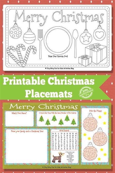 printable christmas placemats 177 best free christmas printables images on pinterest