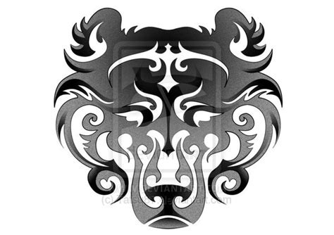 tribal bear head tattoo ideas and designs page 41